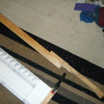 Handle and blade reinforcement cut to size.